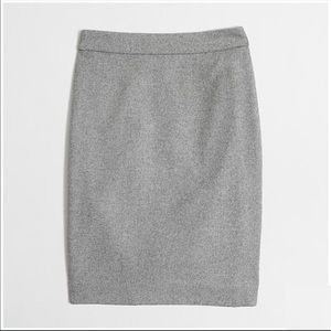 J. Crew gray wool The Pencil Skirt